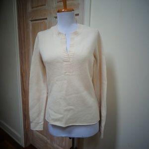 J. MCLAUGHLIN 100% Cashmere V-Neck Sweater Sz S